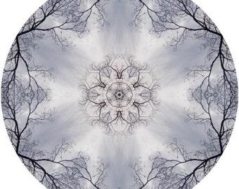 Mandala Art, Zen Art, Abstract Wall Art, Peaceful Art, Nature Wall Decor, Circle Art Print in Sky Blue