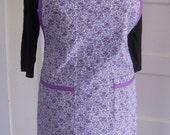 Purple Floral Bib Apron
