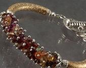 Tundra Sapphire Two Tone Bangle Style Bracelet