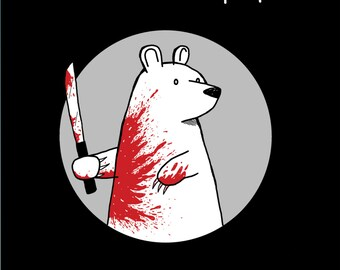 Machete Bear Greeting Card