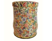 Vintage Floral 1960's Daher Tin - Made In England