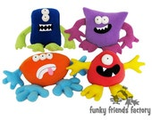 Monsters Mix and Match Plushies Easy Pattern PDF INSTANT DOWNLOAD