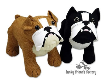 Bulldog (British and French Bulldog)  Toy Sewing Pattern PDF