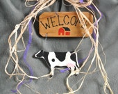 Holstein Country Welcome Sign-Up Cycled Materials
