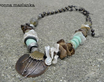 Earthy Organic Boho Chic Necklace SRAJD