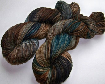 Hand Painted Superwash Merino DK Yarn -- Tut Tut it Looks Like Rain (Ex-Lg 120g/282yd skein)