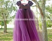 Purple Flower Girl Dress
