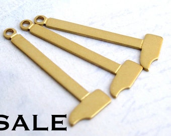 Sledgehammer Brass Charms (16X) (V477) SALE - 50% off