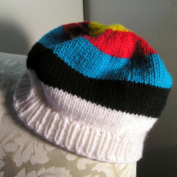 archery target hat knit beanie by zizirho on etsy. Black Bedroom Furniture Sets. Home Design Ideas