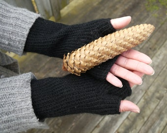 KNITTING PATTERN: Classic Fingerless Gloves, Arm Warmers, Knitting Pattern Instant Download