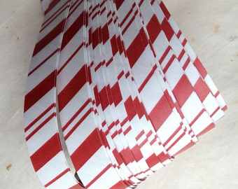 "5/8"" Weaving Paper Star Strips ~Candy Cane Stripes (50 strips)"