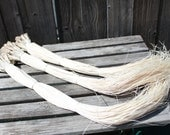 Huge bundle of niau blanc- 400 strands- 20 bundles-LOWER PRICE, Tahitian Costume. Polynesian weaving