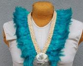 Feather neck hei, lei, necklace, Tahitian dance costume