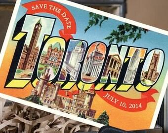 Vintage Large Letter Postcard Save the Date (Toronto, Canada) - Design Fee