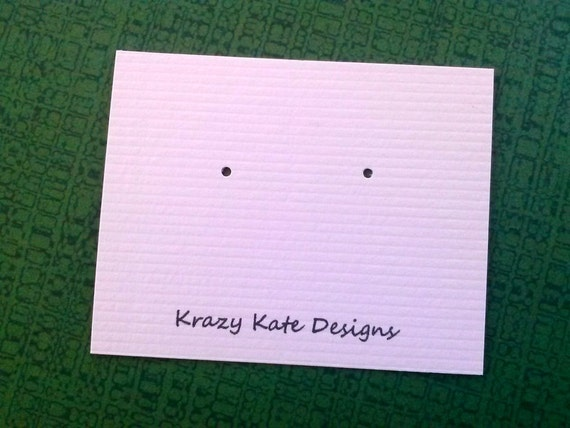 Personalized - 30 earring cards - Post Earring Cards