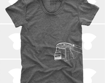 Downhill Skiing Snowboarding Shirt, Women's Chairlift Shirt, Ski Gift, The Mountains Are Calling, Colorado, Women's Clothes, Gift for Women