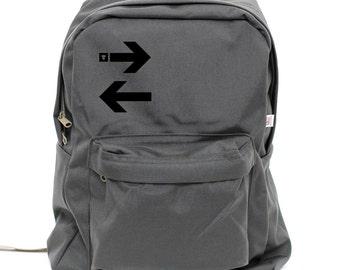 Backpack, Subway Arrows, Rucksack, Nylon School Backpack Laptop, New York City Typography, College Backpack, Men's Backpack, Back to School