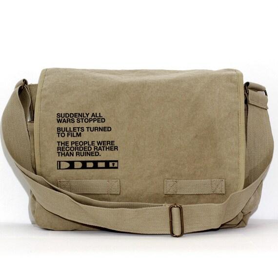 Messenger Bag, Film v. Bullet, Crossbody Canvas Bag, Large Laptop Bag, Men Messenger Bag, Women Messenger Bag, Camera Bag, Travel Bag