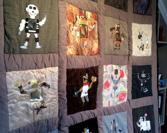 Robot Quilt - Full (Double) size