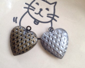 Checkers Heart LOCKET 19x19mm - Code 153.963
