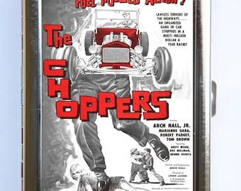Choppers Hot Rod Cigarette Case Wallet Business Card Holder rockabilly rock n roll