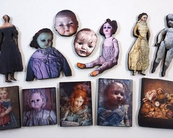 Creepy Victorian Dolls Collection - Wood Craft Parts