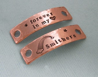 Rainbow Bridge Shoe Tags - Hand Stamped Metal - Dog Agility - MACH Gift - Dog Agility Accessory - Motivational