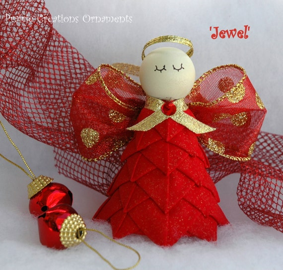 No Sew Quilted Angel Ornament Kit And Instructions Jewel