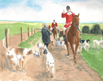 Foxhunt 3 giclee reproduction