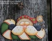 Santa Candy Cane Ornament  Cyndi Combs design