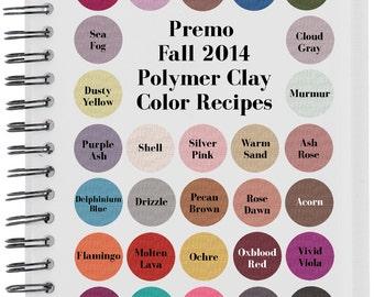 Premo Fall 2014 Polymer Clay Color Recipe Ebook
