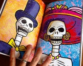 Miskullaneous Skull Illustrated Full Color Book by GIGART Halloween Trick or Treat - Etsy