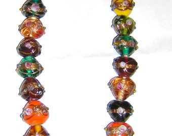HEART shaped Wedding Cake beads  ASSORTED colors, clear & opaque 16 x 18MM (14)