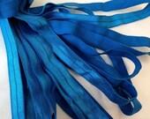Fold Over ELASTIC - 5/8 Inch X 1 Yard - Royal Blue Solid