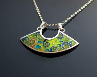 Fantasia-cloisonne enamel necklace