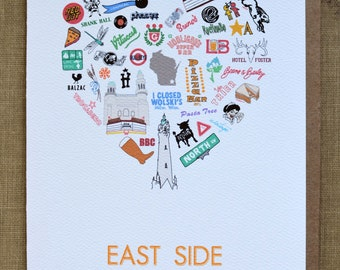 East Side (Milwaukee Neighborhood) Single Card