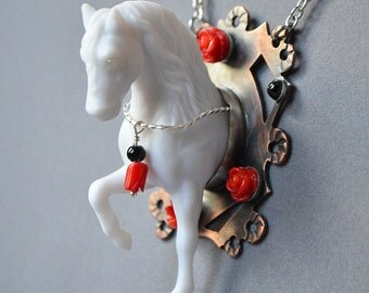 Derby Ghost Horse Necklace