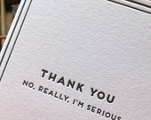 Thank you, I'm serious: Cards for Dudes