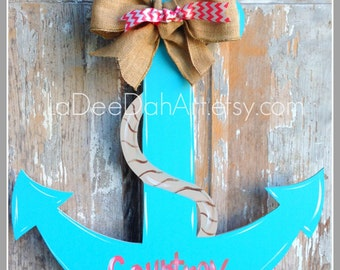 Anchor Door Decor Wood Art Anchor Anchor Door Hanger Anchor Wall Art