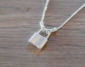 Padlock Necklace on Sterling Silver Chain