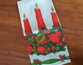 Vintage Linen Christmas Tea Towel - Festive Design - Fallani & Cohn