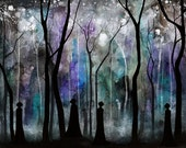 Haunted Forest - Dark Shadow Fantasy Painting - Haunting Gothic Watercolor Art