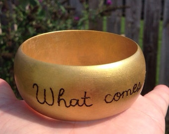 What Comes Around... Wooden Bangle Bracelet