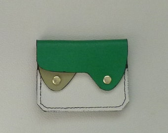 Small Leather Wallet, Coin Purse, Card Holder, Leather Wallet, Green Leather Wallet