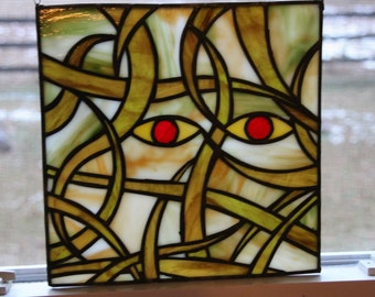 The Madness of Cthulhu - Stained Glass Panel