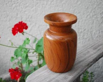 Vintage Mid Century Modern Wooden Vase