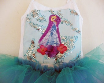 FROZEN TUTU - Elsa Princess Tutu - Sizes 18/4 months, 2/4 years, 4/6 years, 6/8 years and up