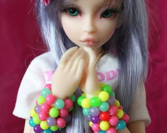 Candy Bubblegum Bracelets Discount Pack of 4 BJD MSD SD YoSD Doll Jewelry Cute Fairy Kei Pop Kei