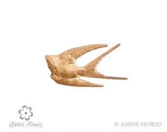 Brass Bird Jewelry Embellishment for Jewelry. Brass Stamping. megb.bb