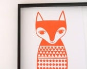 New Screen Printed Scandi Fox Screen Print by Jane Foster